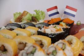 Sushi bij IIZO oranje op Koninginnedag