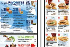 McDonald's meldt calorieën op menuborden in VS