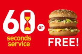 60-secondenservice McJapan funest voor hamburger