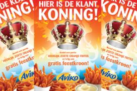 Kroon bij een Oranje frietje