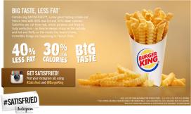 Introductie lightfriet bij Burger King mislukt