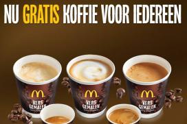Gratis koffie bij McDonald's