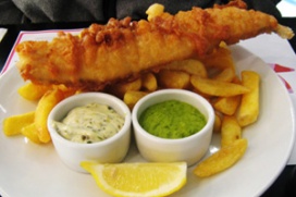 Engelse 'fish and chips' in Borne