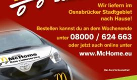 McDonald's Osnabrück eerste met bezorgdienst in Duitsland