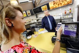 Snackbar start betalen met mobiele telefoon