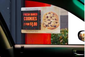 Burger King beïnvloedt drive-thru-gasten met displays