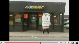 YouTube-battle Subway en Quiznos