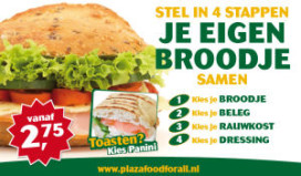 Plaza kiest voor broodjesconcept à la Subway