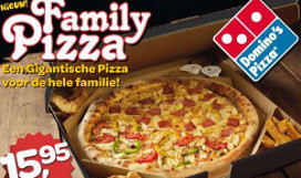 Domino's komt met Family Pizza