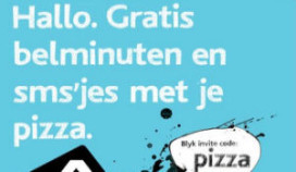 Gratis sms'en bij pizzabezorger