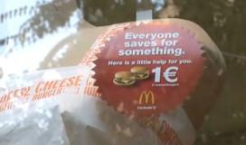 McDonald's helpt gasten sparen met cheeseburger