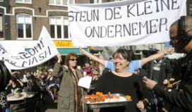 Protestactie voor behoud cafetaria