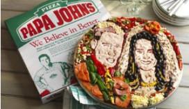 Huwelijksportret William en Kate op een pizza