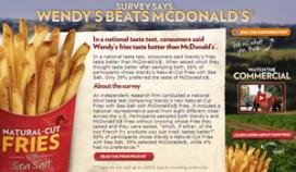Wendy's gaat 'fritesstrijd' aan met McDonald's