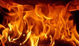 Brand bij snackbar De Platvis