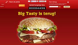 Terugkeer Big Tasty met gejuich begroet