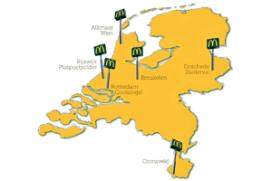 Zes nieuwe McDonald's-restaurants in 2014