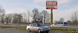 Kwalitaria bedankt fans met billboard langs A27