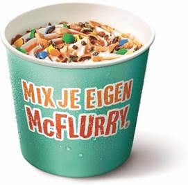 Naast burgers laat McDonald's ook McFlurry zelf samenstellen