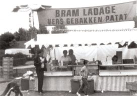Bram Ladage trakteert patat op vijftigste verjaardag