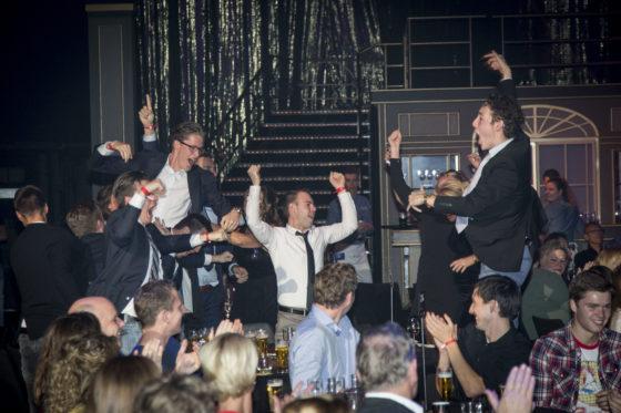 Het team van Het Strandhuys in Bergen op Zoom was best blij met de Publieksprijs in 2017.