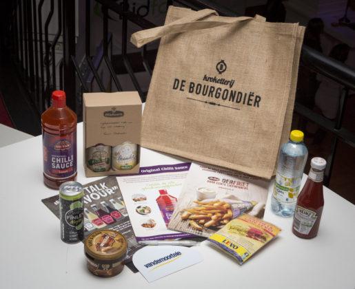 Een mooi gevulde goody bag van de sponsoren is altijd leuk om mee te nemen. Foto: Koos Groenewold