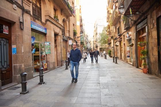 Barcelona is een mooie stad om te wandelen... Foto: Alvaro Gonzalez