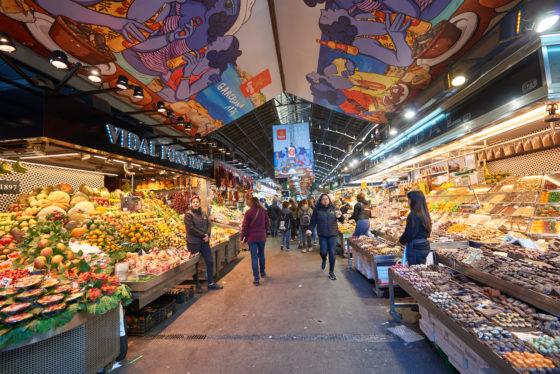 Natuurlijk kon een bezoek aan La Boqueria, de bekende markt op de Rablas, niet ontbreken. Foto: Alvaro Gonzalez
