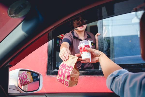 McDonald's drive thru quarter pounder fastfood