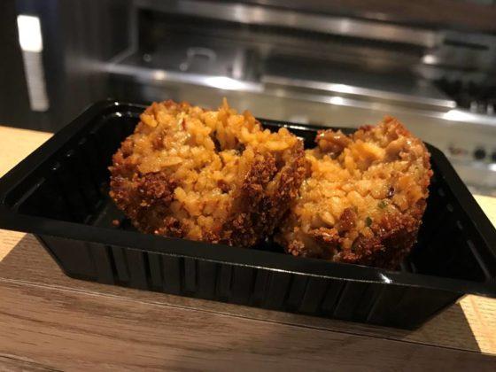 De nasibal van Cafetaria XL: niet te droog en lekker pittig. Foto: Nederlands Frituurcentrum