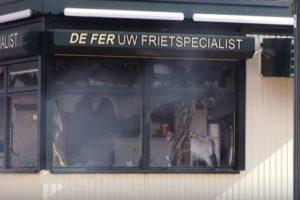 Brand in cafetaria De Fer in Breda