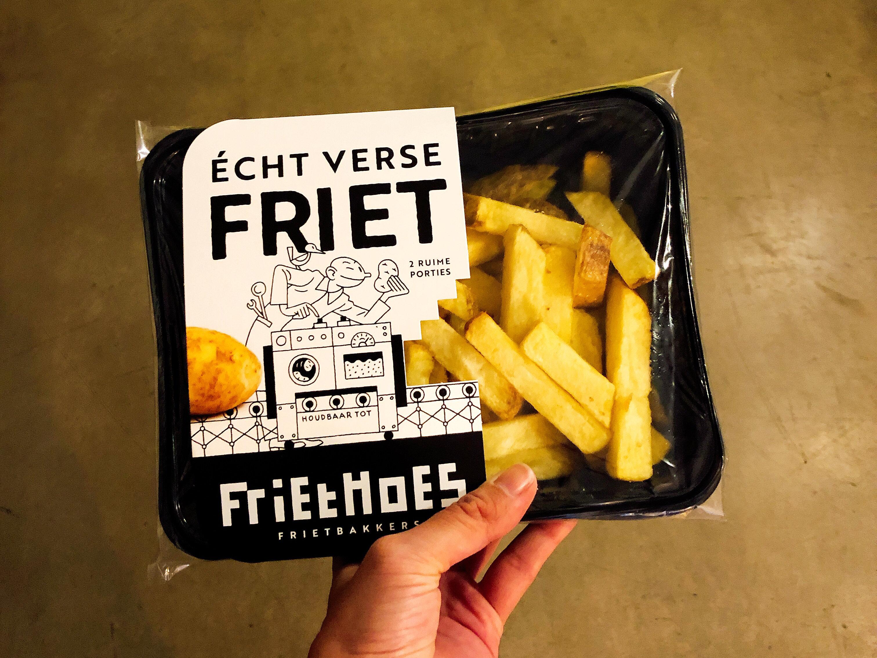 Friet van FrietHoes in de schappen bij Marqt