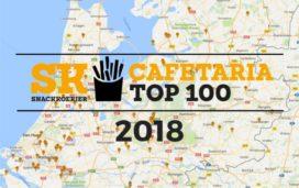 Landkaart Cafetaria Top 100 2018