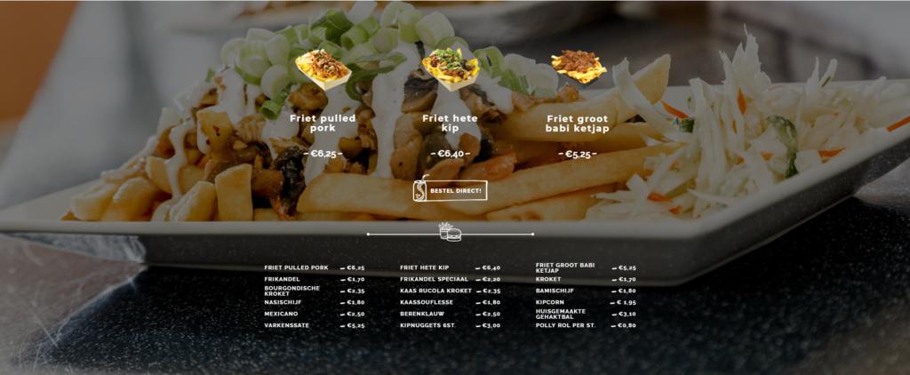 Eetwinkel website