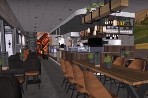 Snackland Holleblok op de schop; twee zaken worden één moderne cafetaria