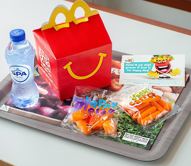 McDonald's stopt voortaan altijd groente of fruit in Happy Meals