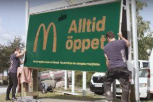 McDonald's bouwt reclameborden om tot bijenkorven