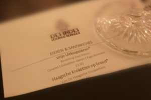 Kroketten van De Haagsche Croquetterij ook bij Hotel Des Indes